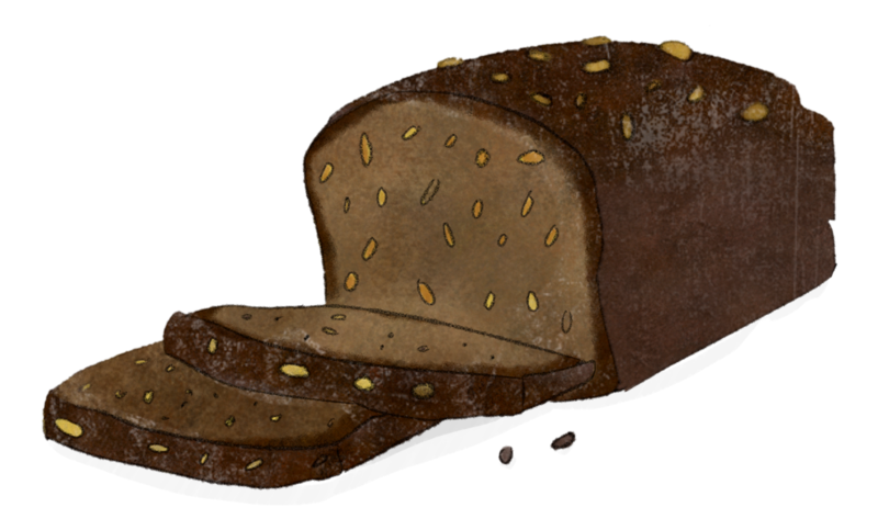 Illustration Vollkornbrot