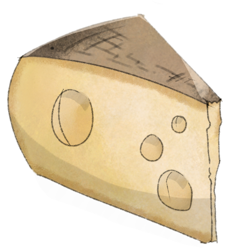 Illustration Käse