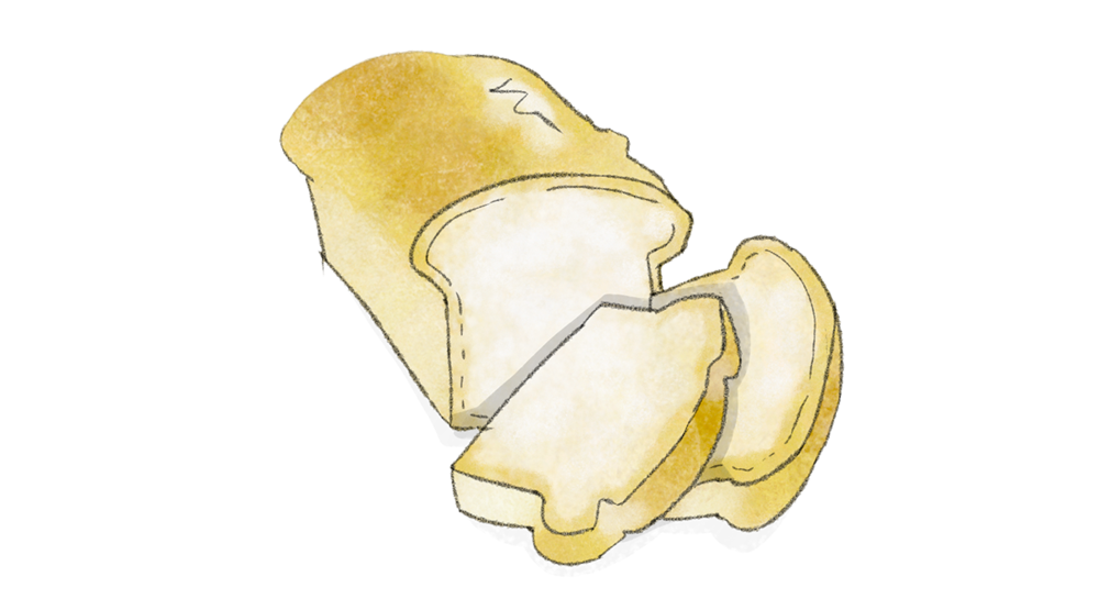 Illustration Toastbrot